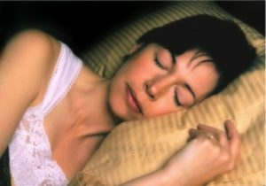 woman sleeping well