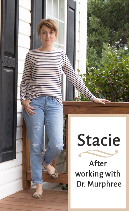 Stacie after working with Dr. Rodger Murphree