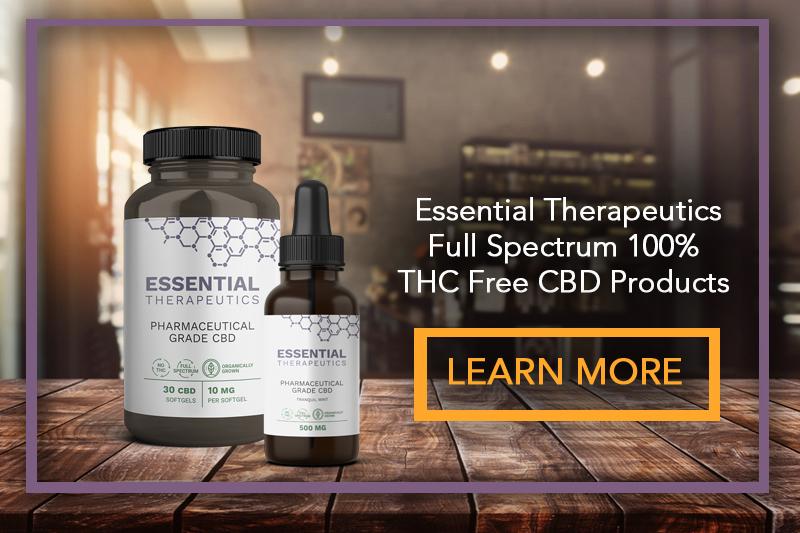 Essential Therapeutics Full Spectrum 100% THC Free CBD Products
